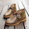 2016 Otoño y Botas de Invierno de Los Nuevos Hombres de Moda Casual Hombres Martin Botas Estilo Británico de Ocio de Cuero de Los Hombres de Alta Para Ayudar A botas