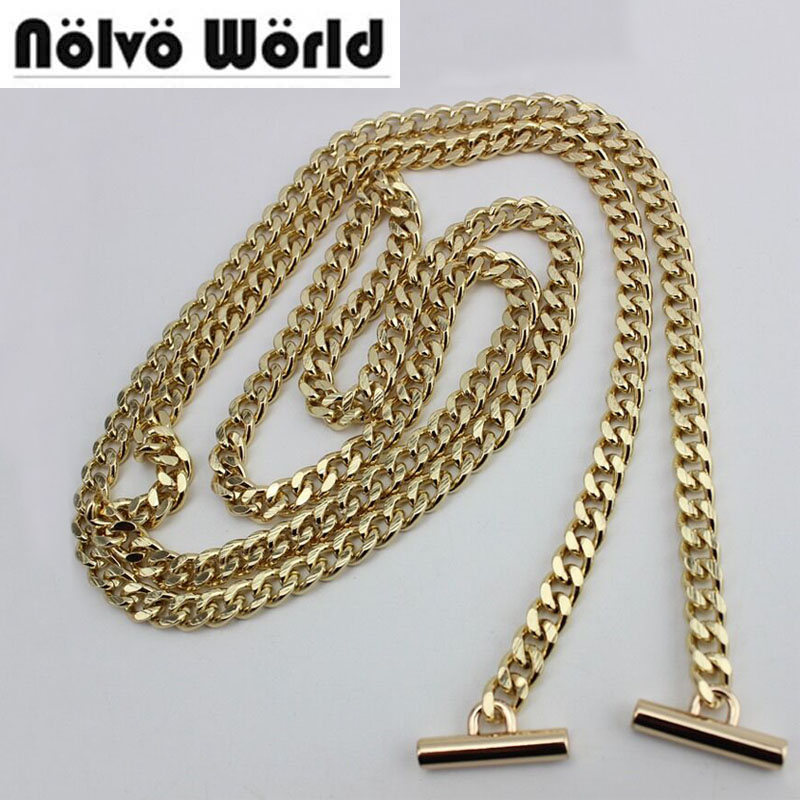 Gold Light Gold Silver 120cm 130cm 7mm width chains metal strap with hook for women bag handbag chain removable long strap chain nokia 515 light gold