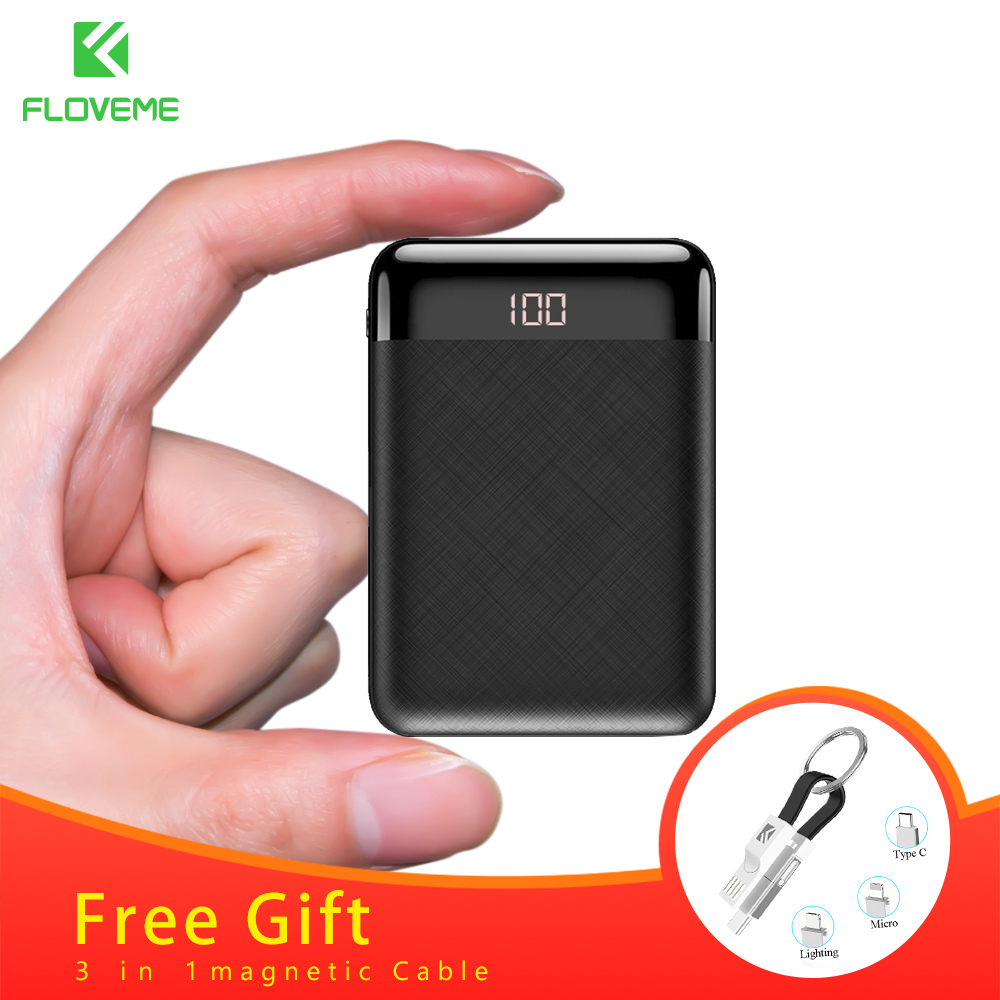FLOVEME Mini 10000mAh Power Bank For iPhone Samsung Mobile Phone Charger Dual External Battery Pack Portable Charger PowerbankFLOVEME Mini 10000mAh Power Bank For iPhone Samsung Mobile Phone Charger Dual External Battery Pack Portable Charger Powerbank