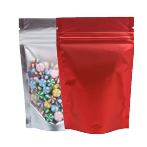 Image 3 - Recyclable Matte Clear Front Ziplock Storage Bags Metallic Mylar Eco Plastic Stand Up Pouches Food Package Bags For New Year