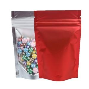 Image 3 - Recyclebaar Matte Clear Front Ziplock Opbergzakken Metallic Mylar Eco Plastic Stand Up Pouches Food Pakket Voor Nieuwe Jaar