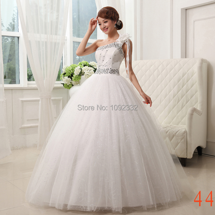 One Strap Wedding Gowns: Stock 2016 New Plus Size Bridal Gown Women Wedding Dress