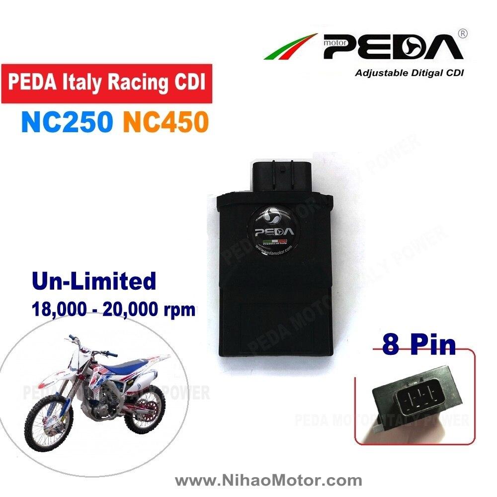 Moto rcycle course CDI 8Pin NC250 NC450 Zongshen RX3 RX4 DC 20000 tr/min bobine d'allumage illimitée Performance moto pièces KAYO moto land