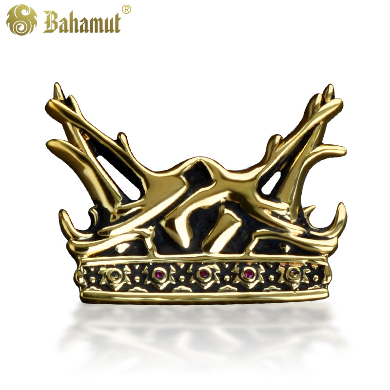 A Song of Ice and Fire Game of Thrones The House of Baratheon Deer Crown High Quality Brooch Pin 17cm game of thrones action figure toys sword chair model toy song of ice and fire the iron throne desk christmas gift