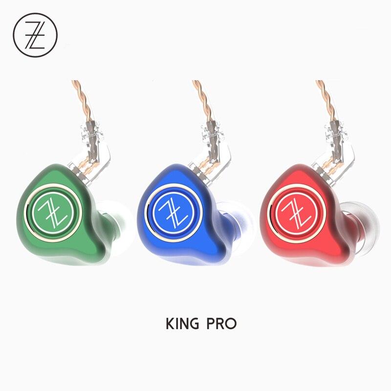 купить 2018 The Fragrant Zither TFZ KING PRO 2Pin Interface Metal HIFI Monitor In Ear Sports  Earphone Customized Dynamic DJ Earphone дешево