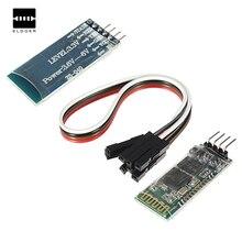 Novo Sem Fio Bluetooth RF Transceiver Module HC-06 RS232 TTL de 4 Pinos Placa de 4.3×1.6×0.7 cm para Arduino + cabo de 21.5 cm