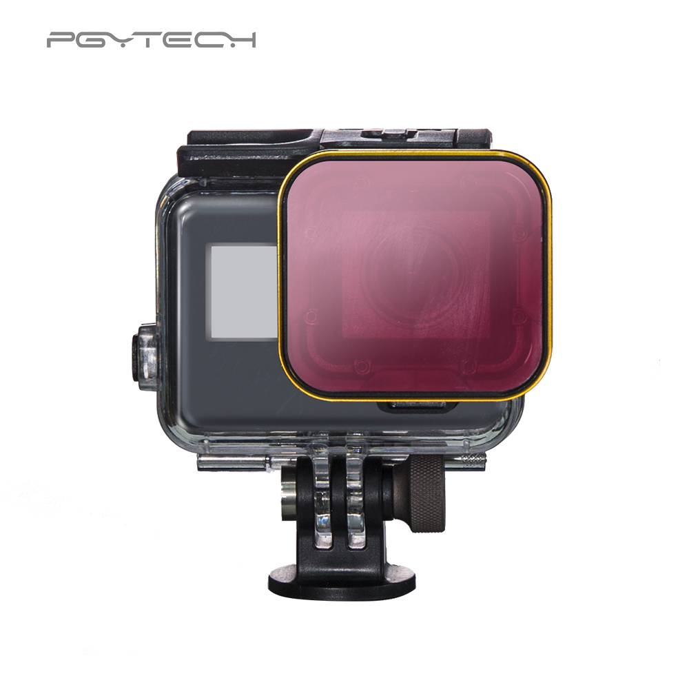 PGYTECH Diving Filter housing version for GoPro Hero 5 Super Suit housing exclusive red filter For GoPro Camera Accessories светофильтр gopro dive filter for standard housing