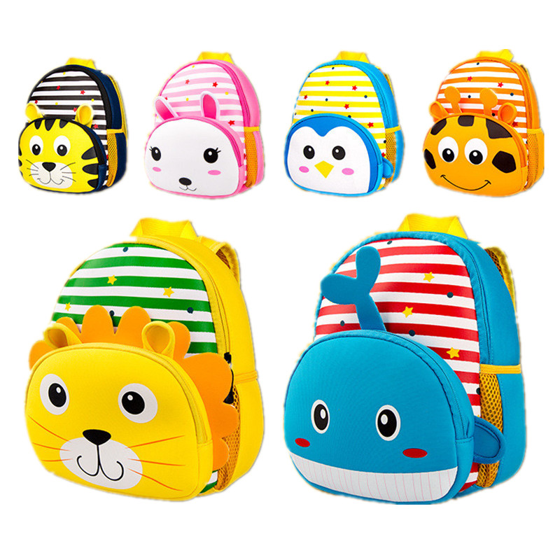 b4d672a871 3D Cartoon Animal Children Backpacks Satchel Infant Kindergarten Kids  Schoolbag Backpack Children School Bags for Girls Boys