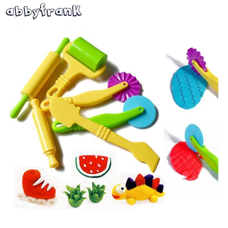Abbyfrank 6 STKS Polymer Klei Mallen Plasticine Schimmel Handgum - Leren en onderwijs