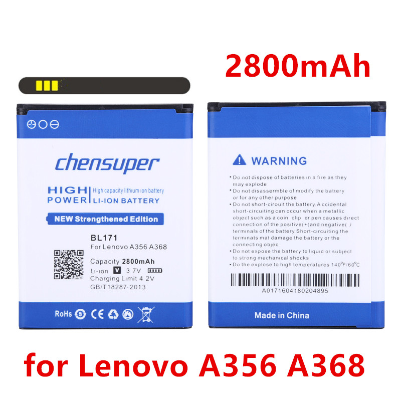 2018 chensuper New Original BL171 Battery For Lenovo A319 A60 A500 A65 A390 A368 A390T A356 A370E A376 BL 171 Phone Batteries