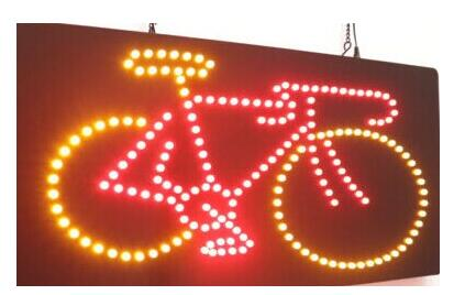 Plaques & Signs Home Decor Dynamic Direct Selling Customized Led Neon Open Sign 25*48 Cm Indoor Ultra Bright Cycling Bike Bicycle Business Store Neon Light Signage