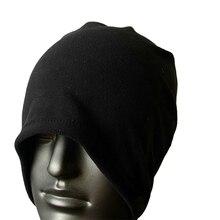 LGFM-3-IN-1 Fleece Neck Warmer Snood Scarf Hat Unisex Ski Wear – Black