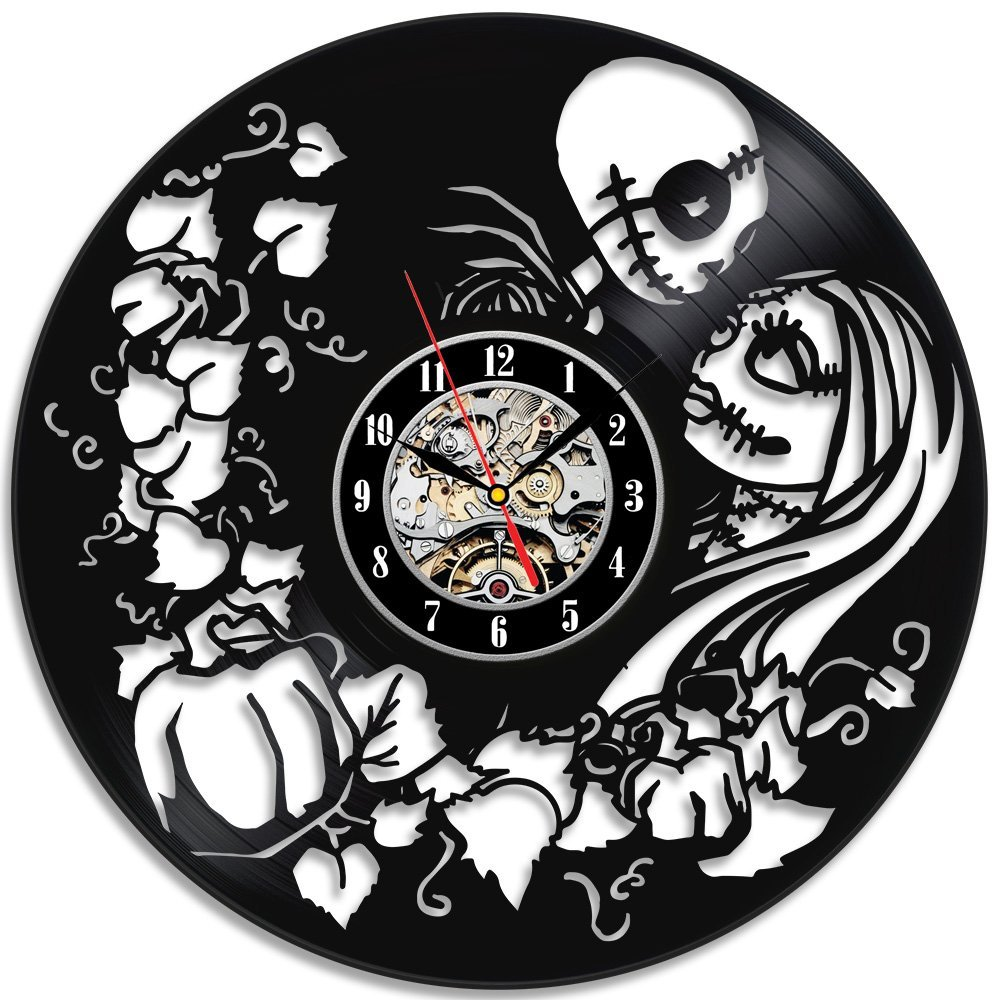 Nightmare Before Christmas Vinyl Wall Clock Great Gift-in Wall ...