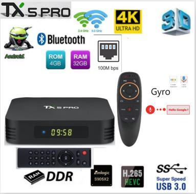 tanix TX5 MAX PRO DDR3 4GB 32GB 2.4G 5G WiFi LAN Bluetooth Android 8.1 TV Box Amlogic S905X2 Quad Core 4K tx5 max pro