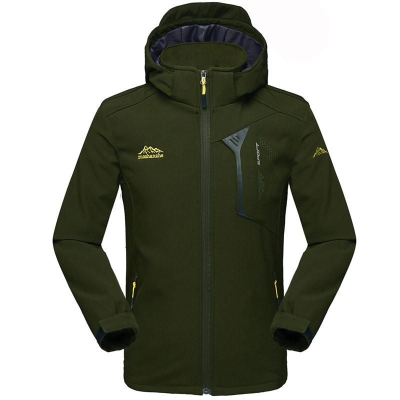 Men Winter Waterproof Camping Hunting Hiking Trekking Climb Outdoor Skiing Warm Softshell Fleece Jackets Man Male Oversize 5XL