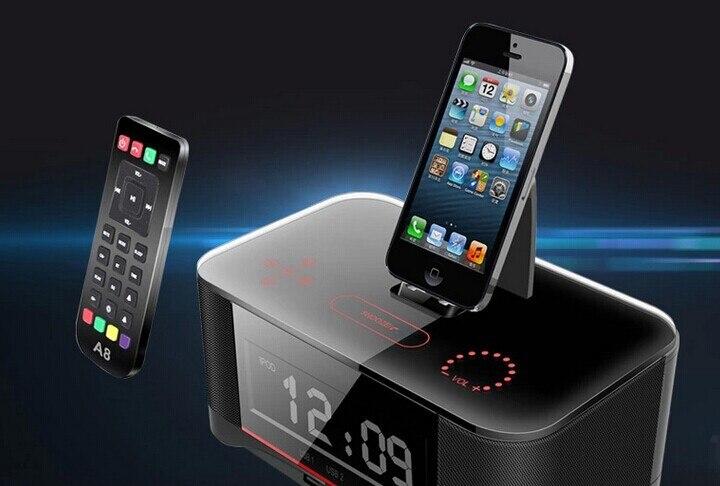 Pll Fm Radio Alarm Clock Bluetooth Speaker Docking Station For