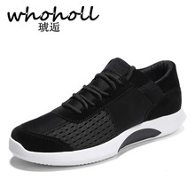 WHOHOLL Autumn Breathable Men Sneakers Casual Shoes Fashion Men's Sneakers Lace-up Comfortable Soft Shoes Chaussures Hommes mycolen street style men sneakers high top winter shoes male leather men s comfortable lace up casual shoes chaussures hommes