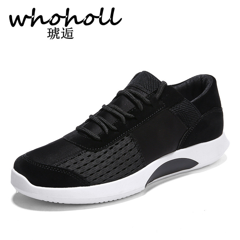 Suave gris Otoño Transpirable Zapatillas Chaussures Negro Lace Whoholl up Zapatos  Moda Cómodo blanco Hombres Casual Hommes vHww6pSq c078415827ae