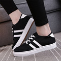 Mrs win Women Shoes 2017 Spring Ladies Casual Shoes Brand Design Canvas Shoes Solid Color Flat Shoes zapatillas mujer