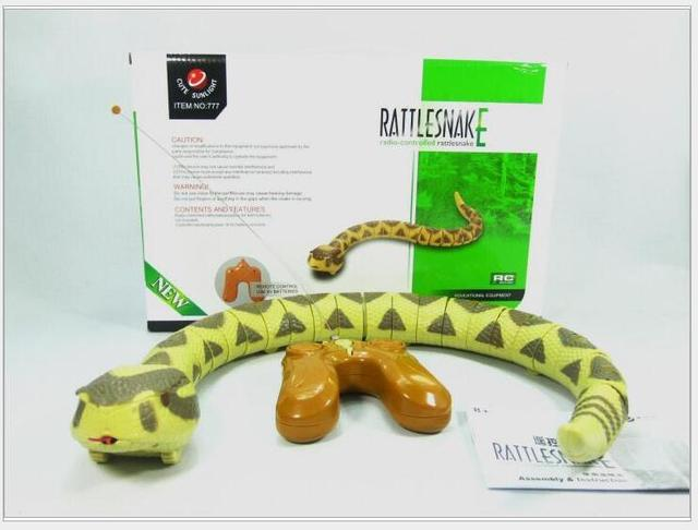 rc rattle snakes terror Loud tail snake animal toy creative strange infrared emulation Child P5