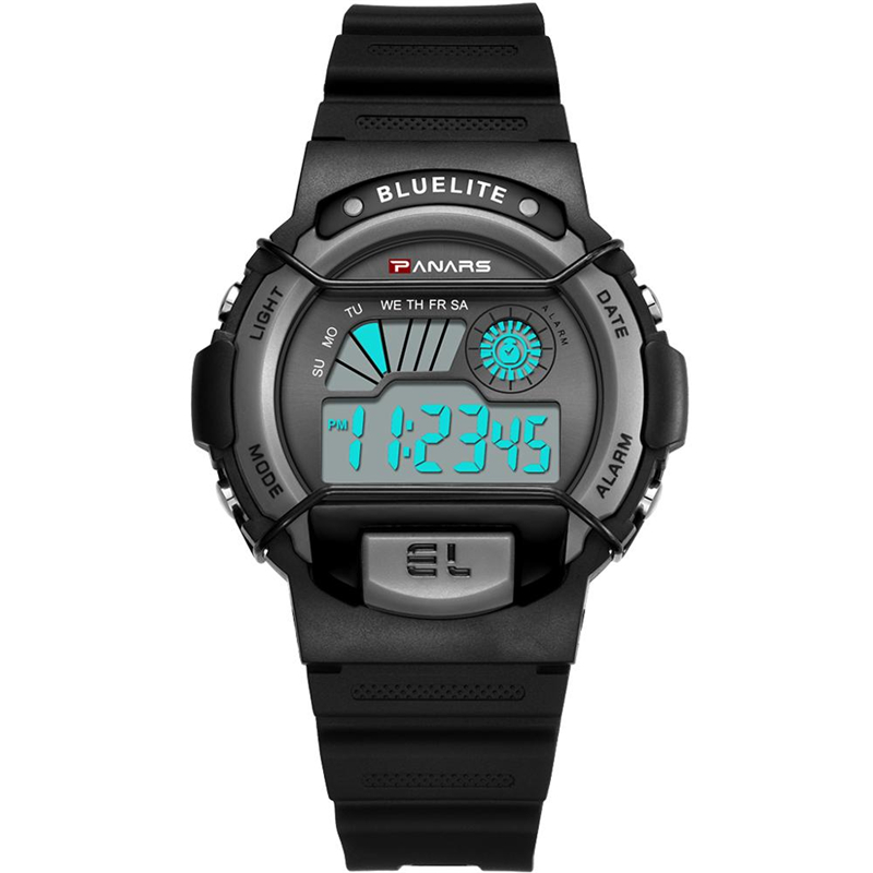 2019 New PANARS Men Fitness Sports Chic Watch Multi-function Business Waterproof Luminous Wrist Watch LED Digital Watch Male(China)