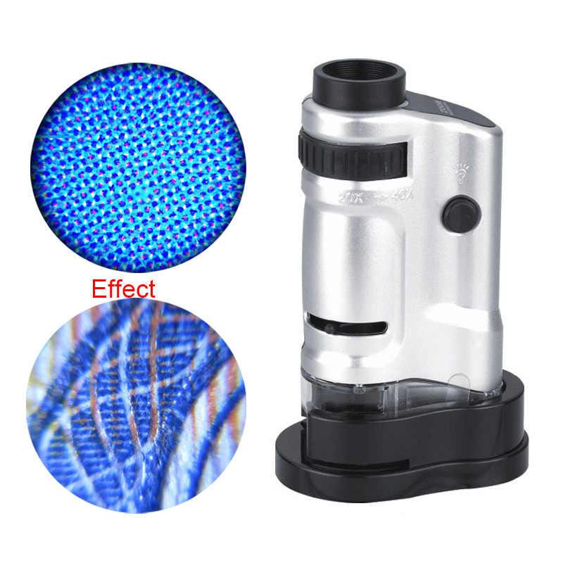 20x-40x LED cyfrowy oświetlony kieszeni mikroskop USB mikroskop lupa elektroniczny Stereo kamera USB do nauki, edukacja nowy