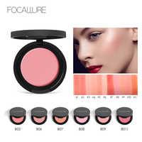 FOCALLURE Makeup Face Blush Powder Dual Use Face Color Blush Powder Cheek Color Brozer Comestics Blush Bronzer Hot Mama