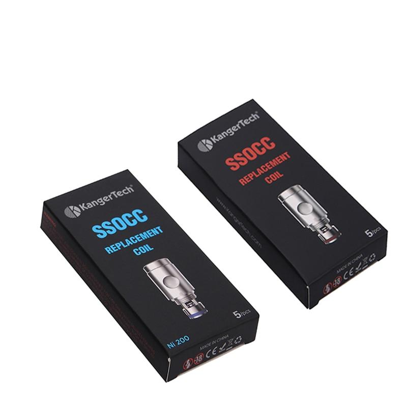 5 шт./лот Kanger subtank SSOCC катушки 0.15ohm/0.2ohm/0.5ohm/1.2ohm/1.5ohm Вертикальная катушка подходит для Subox Mini-c SubvodToptank Mini
