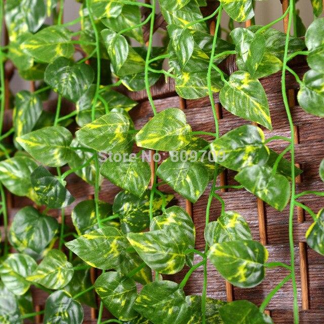 48pcs Artificial Silk 71 Quot Money Plant Leaves Vine Ivy