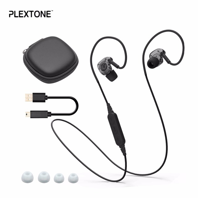 PLEXTONE BX240 Bluetooth Headset IPX5 Waterproof Headphones earphone Wireless Sports Running Stereo Earpiece With Mic for iPhone