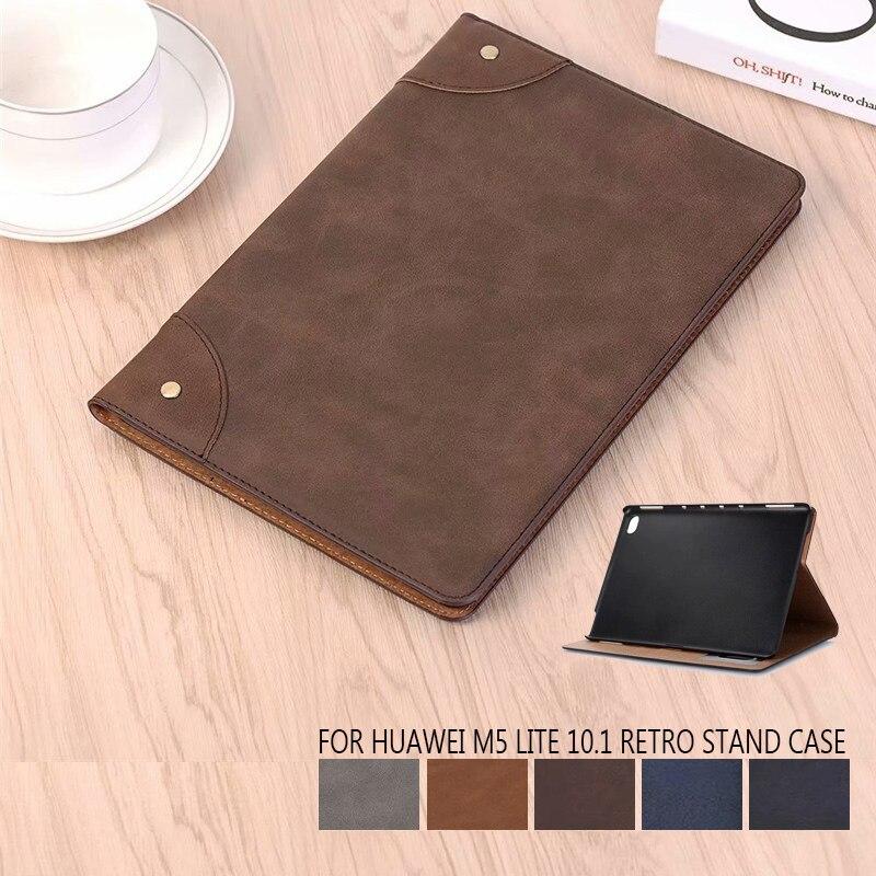 "PU Leather Case For Huawei MediaPad M5 Lite BAH2-L09 W19 10.1""Tablet Stand Cover for Huawei mediapad m5 lite 10 DL-AL09 W09 case"