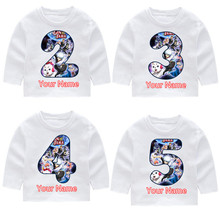 Children's Gintama Tama Fashion Print Cotton Long Sleeve T-shirts Kid's Fall Long Sleeve Tops Baby Girl Harajuku Clothes tama cm8p