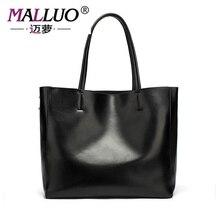 Malluo echtem leder luxus handtaschen frauen taschen polyester leder handtasche weichem leder einfache wilde weibliche modell umhängetasche