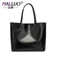 Malluo حقيقية الجلود حقائب النساء الفاخرة أكياس البوليستر نموذج رسول حقيبة يد جلدية لينة جلدية بسيطة البرية الإناث