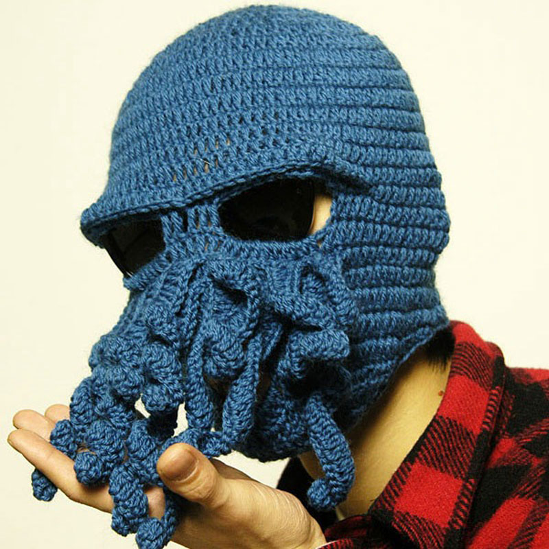 Handmade Funny Animal Hat Tentacle Octopus Cthulhu Knit Beanie