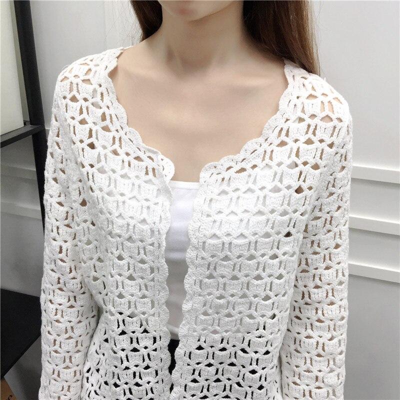 Mujeres 2019 Crochet Encaje La Chaqueta 32j3 Moda Blanco De Primavera Camisa Verano Tops Blusa Mujer Punto Las Sexy gqgFB