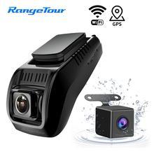 Mini Wifi Car Dash Cam DVR Dual Lens 1296 P di Visione Notturna Videocamera per auto GPS ADAS Auto Video Recorder Mini Videocamera auto Registrar
