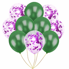 3Pcs Latex Balloon Holiday Birthday Party Student Dance Wedding Room Decoration Solid Transparent Confetti Paper