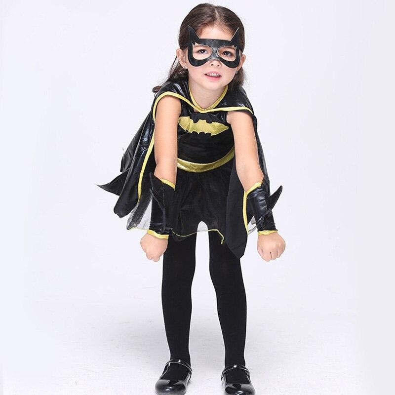 Girls Batman Fancy Dress Halloween Costume