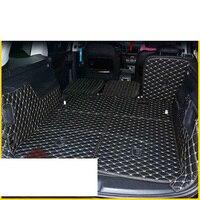 lsrtw2017 fiber leather car trunk mat for volkswagen sharan 2010 2011 2012 2013 2014 2015 2016 2017 2018 2019 SEAT Alhambra