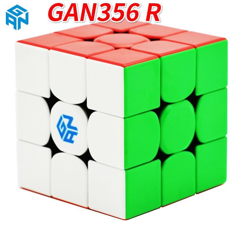 New Gan356 R 3x3x3 Stickerless Magic Professional Speed Magic Cube Gan356R 3x3 Cubo Magico Cube Puzzles For Children