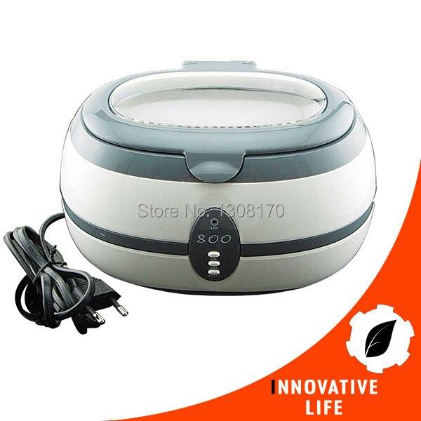 Bijoux montre dentaire 600 ml 40 k Hz 220 V nettoyeur à ultrasons nettoie lunettes colliers métal vaisselle anneaux dentiers