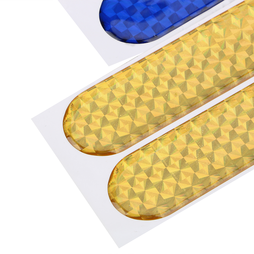 FORAUTO 2pcs Car Door Sticker Decal Warning Tape Car Reflective Stickers Reflective Strips Car-styling 4 Colors Safety Mark 6