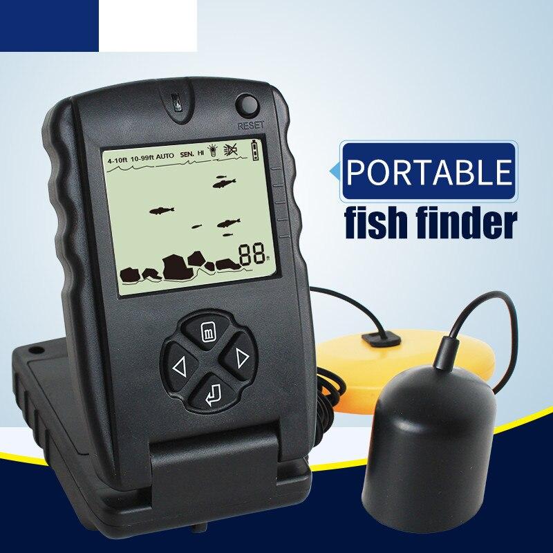 Lucky FF717 100ft Fishfinder Portable Sonar <font><b>Fish</b></font> Finders Depth Echo Sounder for Fishing B22