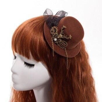 Шляпка в стиле стимпанк лолита в ассортименте