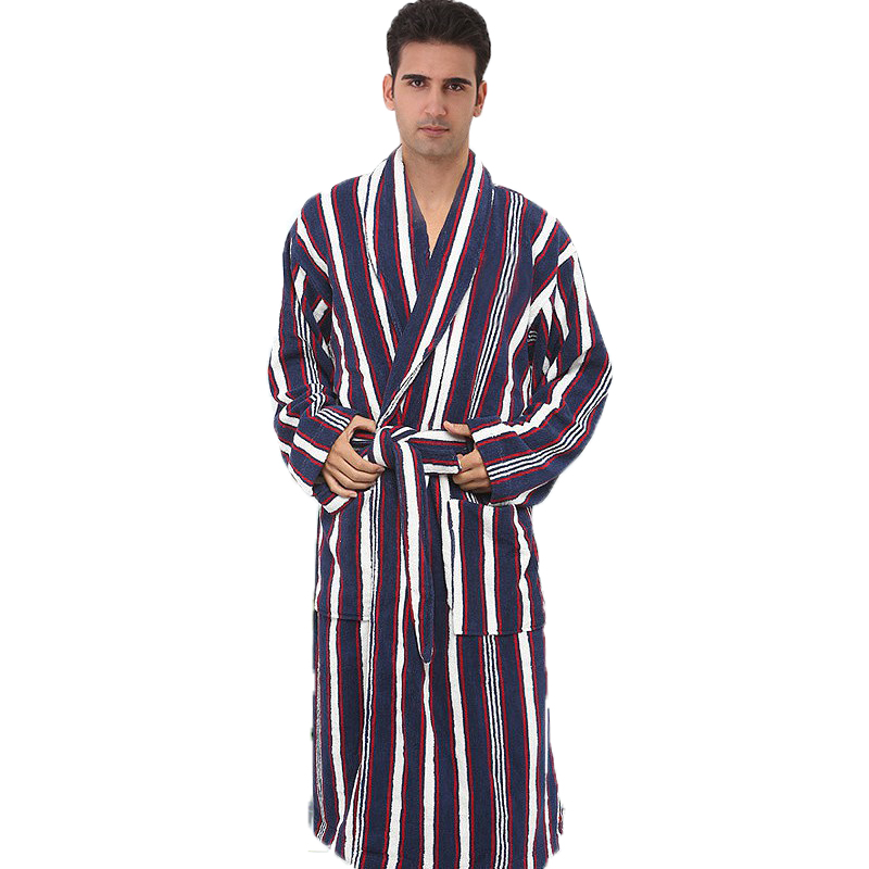 Cotton Men Bathrobe Wedding Bridesmaid Robe Nightgown Blanket Towel Hotel Bathrobe Adult Thick Lovers Long Soft Autumn Winter