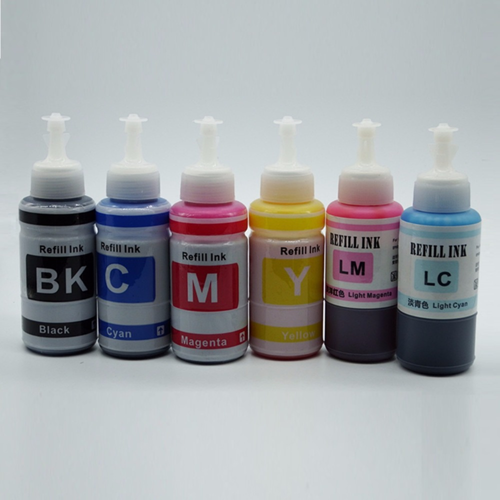 Coloring online no printing - 6 X 70ml Color Refill Dye Ink Kit Kits For Epson Stylus Photo R210 R230