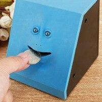 Funny Toys 1Piece Face Money Eating Box Cute Facebank Piggy Bank For Coins Box Money Coin