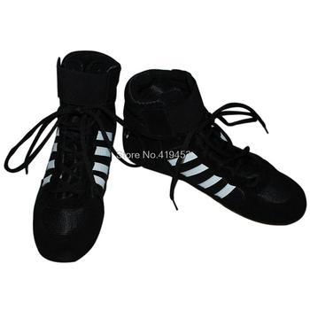 Autentyczne buty zapaśnicze męskie wysokie buty bokserskie profesjonalne zapasy trampki dla mężczyzn i kobiet A979 tanie i dobre opinie ssalena Oddychające Spring2019 Pasuje prawda na wymiar weź swój normalny rozmiar RUBBER Mesh (air mesh) Zaawansowane