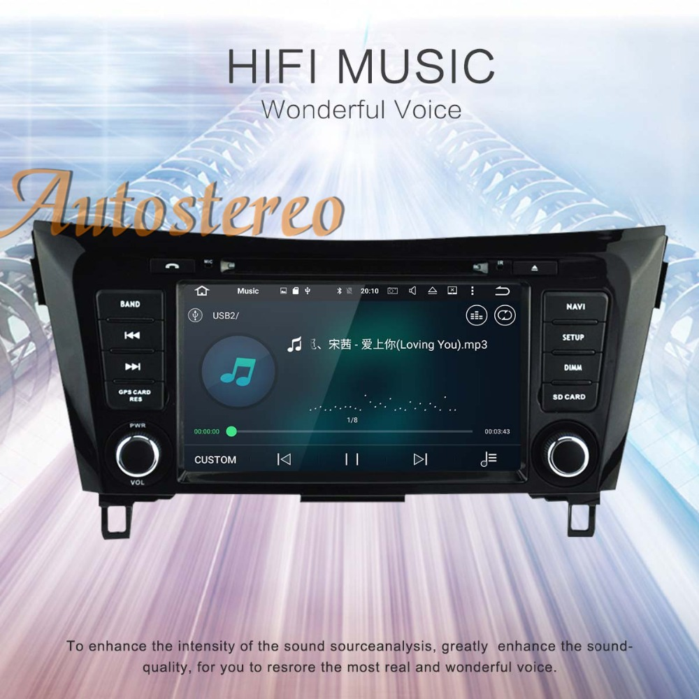 Autostereo Android 9.0 Car DVD Player GPS navigation For Nissan X TRAIL Qashqai Dualis Rouge 2013+ head unit radio tape recorder-in Car Multimedia Player from Automobiles & Motorcycles    2